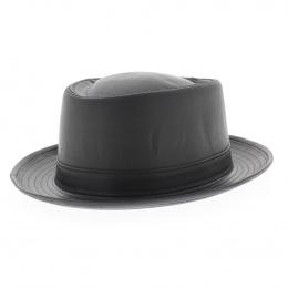 chapeau Pork Pie cuir