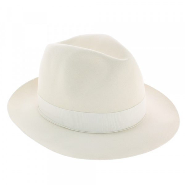 vente en ligne chapeau Borsalino blanc