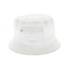 Bob blanc - chapeau tissu
