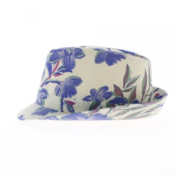 Chapeau Fleurs bleu