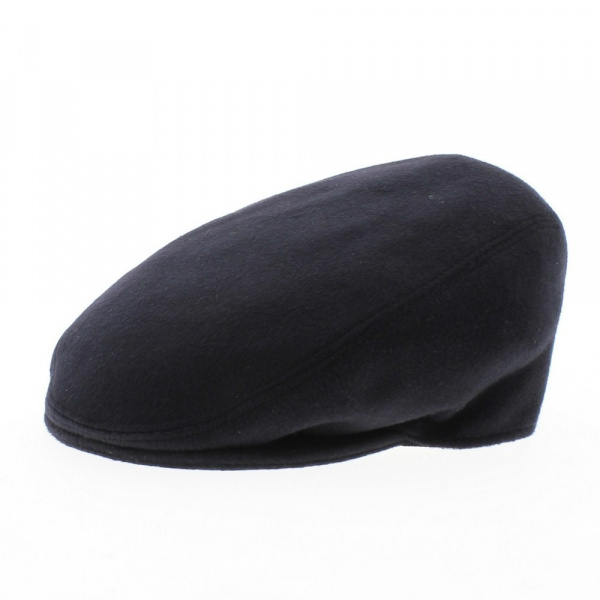 Casquette Plate Cachemire Marine - Traclet