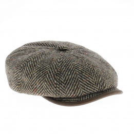Casquette hatteras visière cuir marron Stetson.