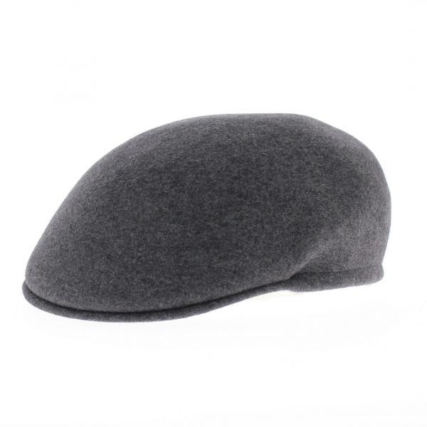 Casquette bombée laine gris
