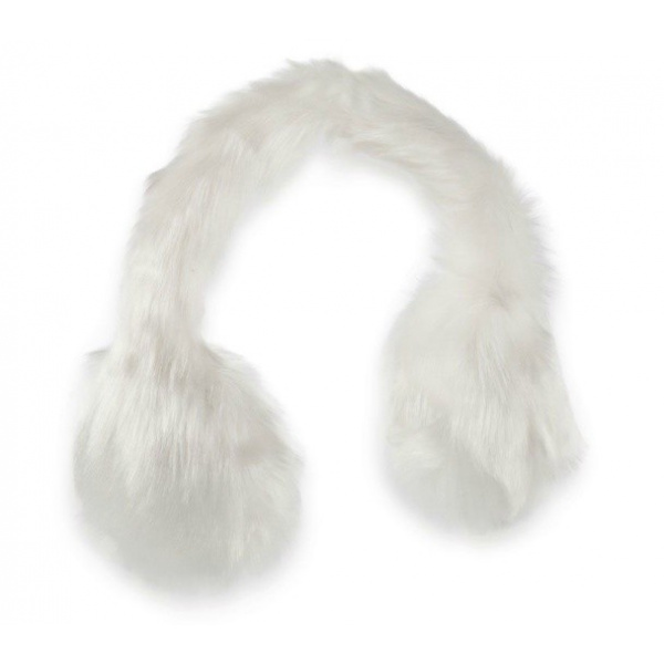 Cache oreille boll blanc
