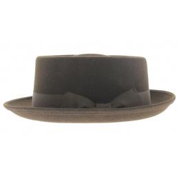Chapeau porkpie marron