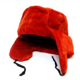 Ushanka rouge - Chapka URSS rouge