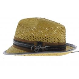 chapeau trilby Carlos Santana beige