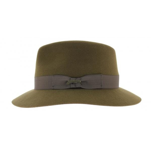 bons plans 2017 style populaire haut de gamme véritable Chapeau Indiana - Feutre poil bronze