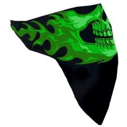 cache-cou noir tête verte
