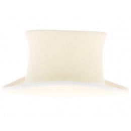 Haut de forme feutre laine blanc ivoir enfant