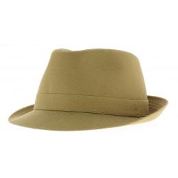 Chapeau trilby beige