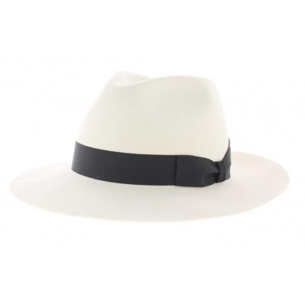 chapeau style borsalino blanc