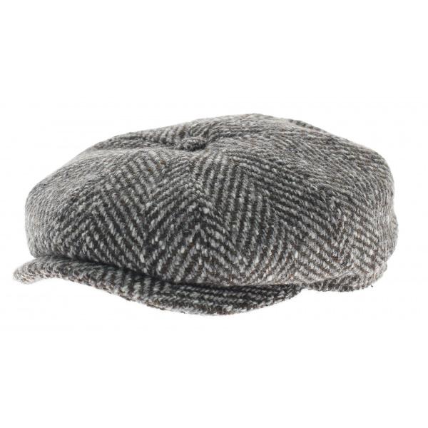Casquette hatteras Herringbone gris