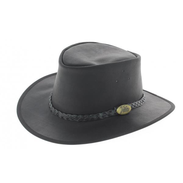 Chapeau australien Adventure Oil noir - Jacaru