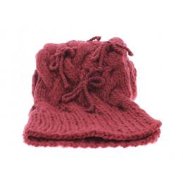 Echarpe crochet framboise Vincent Pradier