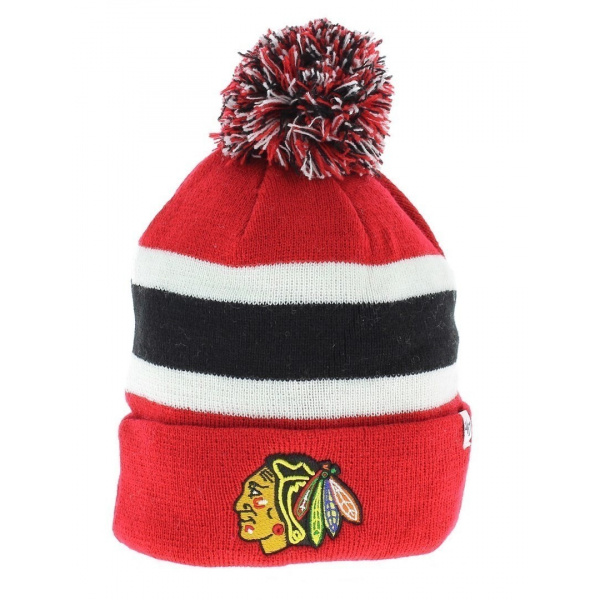 Bonnet Chicago Blackhawks rouge