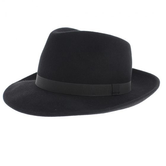 Fedora Hat Felt Wool Black- Traclet