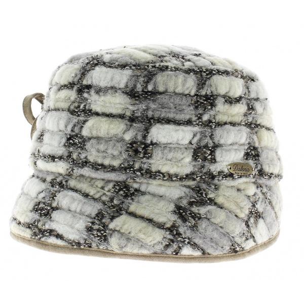 chapeau cloche ann es 20 laine blanc traclet. Black Bedroom Furniture Sets. Home Design Ideas