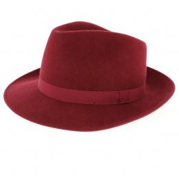 Fedora Hats Wool Felt Burgundy- Traclet
