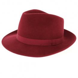 Fedora Felt Hat Carob Wool - Traclet