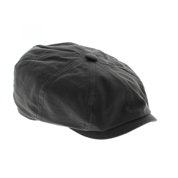 Casquette noir Hatteras cotton imperméable Stetson