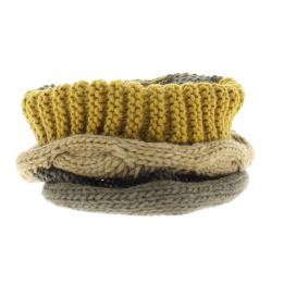 Snood torsade beige - écharpe - tour de cou