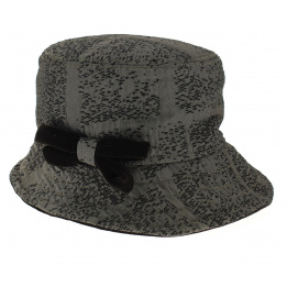 Chapeau Cloche Tissu Anthracite - Traclet