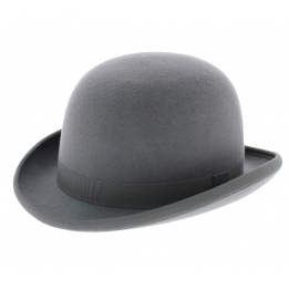 Bowler hat - Grey Wool felt
