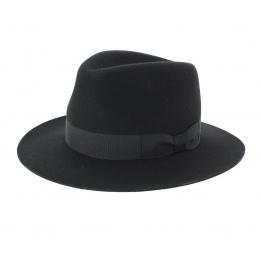 Chapeau Traveller Indiana Jones Feutre laine Noir - Traclet