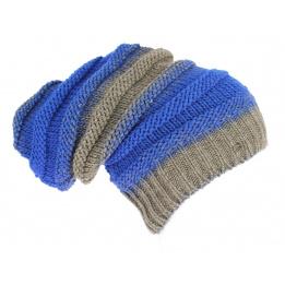 Bonnet long tombant taupe Bleu Roy