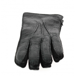 Roeckl Peccary leather gloves with wool lining
