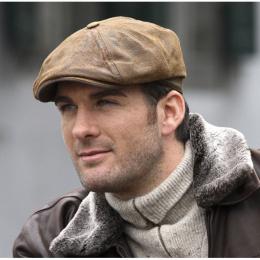 Burney stetson leather hatteras cap