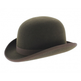 Chapeau melon marron cafe