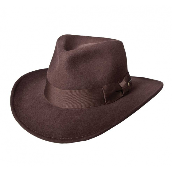Chapeau Traveller Indiana Jones Feutre laine Marron