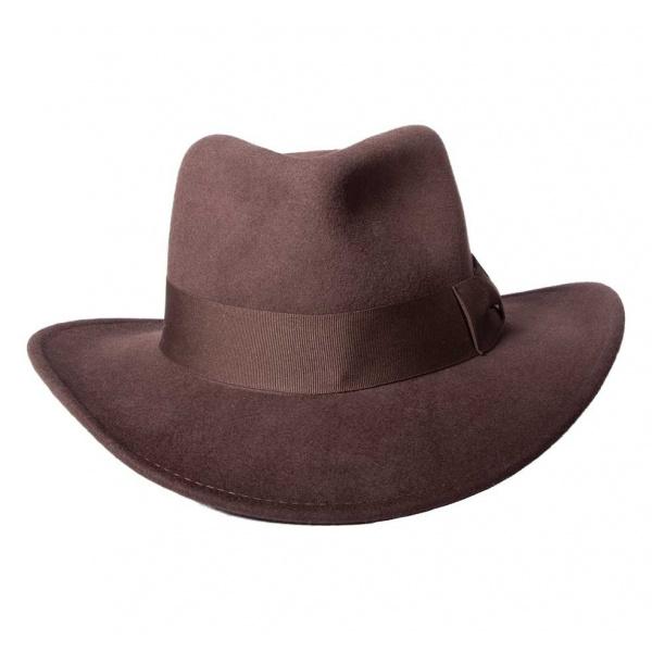 grande qualité magasin 100% authentique Chapeau Indiana - Feutre laine brun