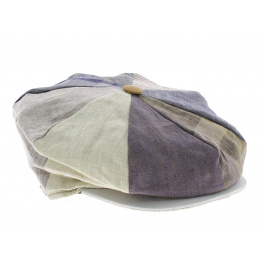 Casquette Irlandaise Omagh 8 cotes Patchwork lin