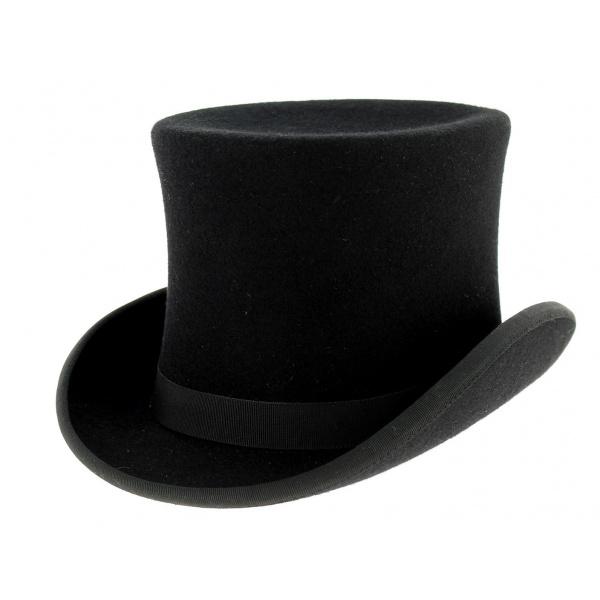 Chapeau haut de forme feutre laine noir