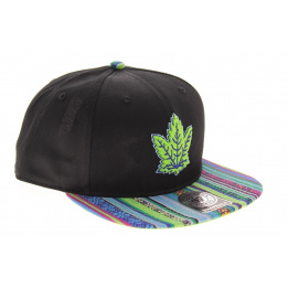 Toronto Maple Leafs Snapback Toronto Black Ethnic Design - 47