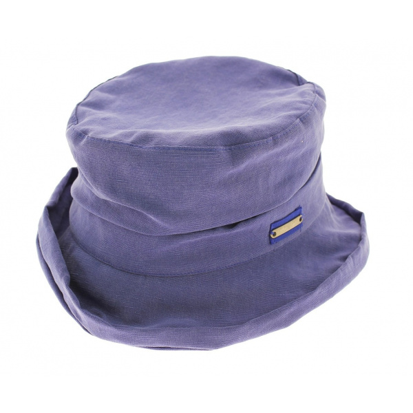Chapeau cloche souple bleu