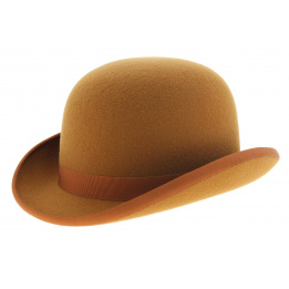 Bowler hat - Orange Wool felt