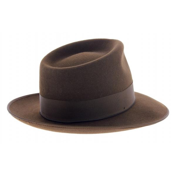 Chapeau Johnny feutre poil marron - Guerra 1855