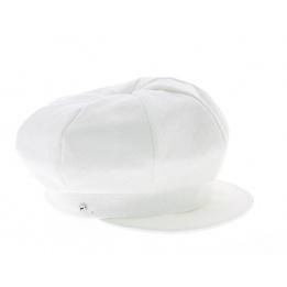 Gavroche cap - White linen