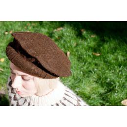 chapeau afghan pakol marron