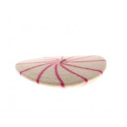Pink striped Beret - Le Béret Français