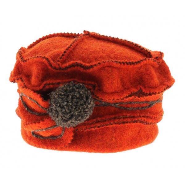 Bonnet toque Adeline - orange