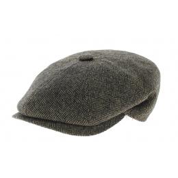 Arnold cap black/ herringbone brown