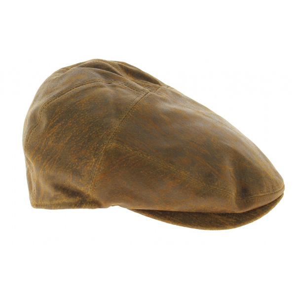 Casquette Cuir Camel Ralph - Traclet