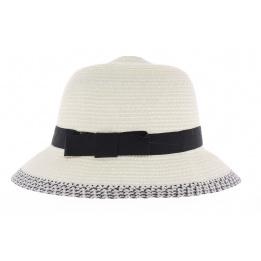 Chapeau cloche Pauline blanc
