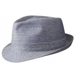 Chapeau Osceola trilby en lin bleu Stetson
