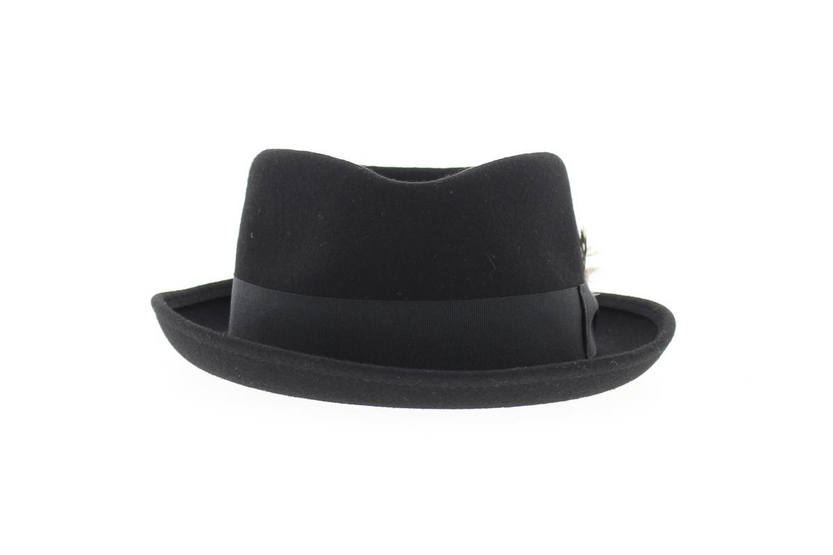 chapeau pork pie feather chapeau fabrique en france. Black Bedroom Furniture Sets. Home Design Ideas